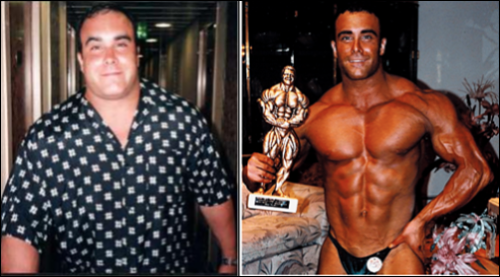 Chris Mazz Fat to Bodybuilder