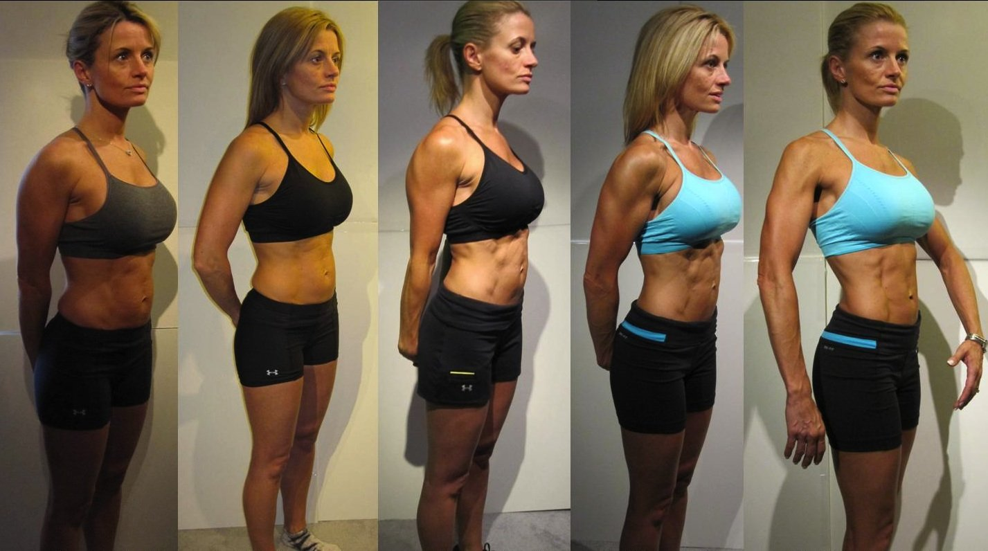 Personal training and nutrition client before and after